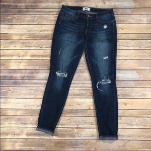 Paige Verdugo distressed skinny jeans size 27